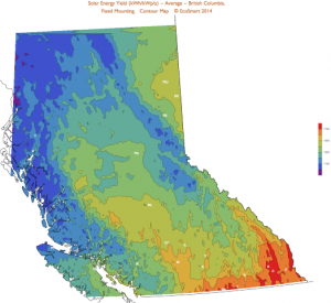 Solar Resource Map British Columbia