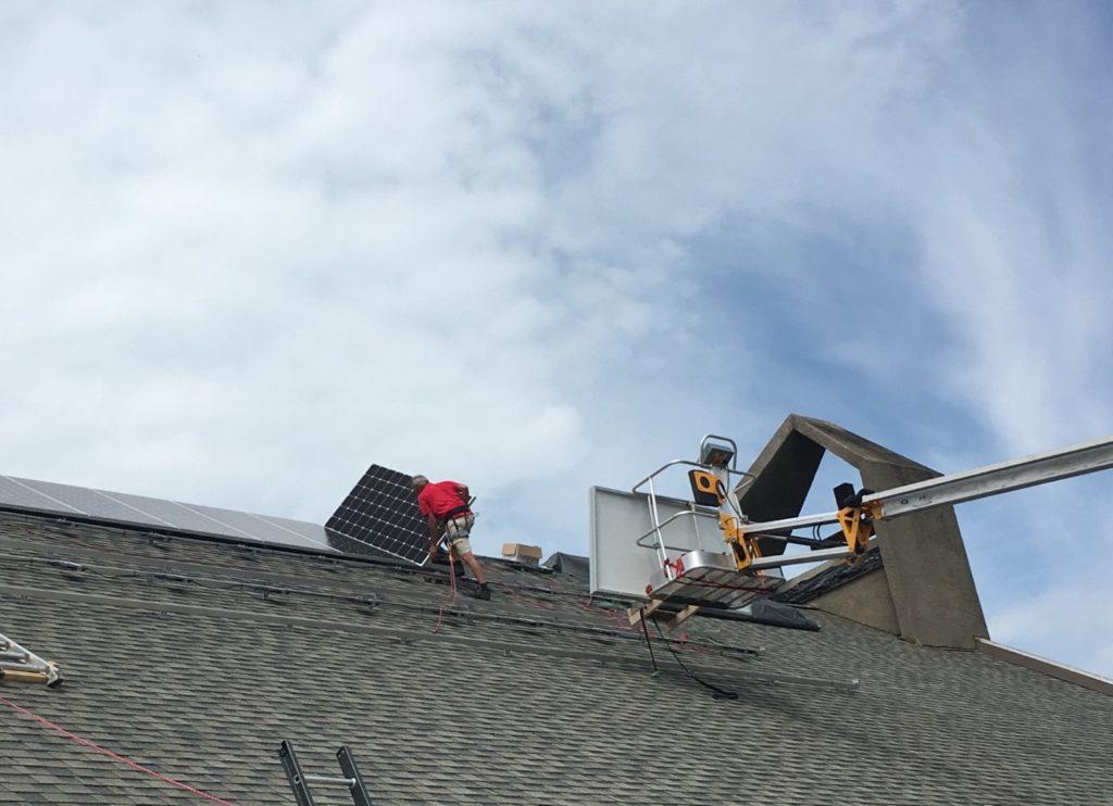 A+ Solar Solutions installation First United Church Salmon Arm