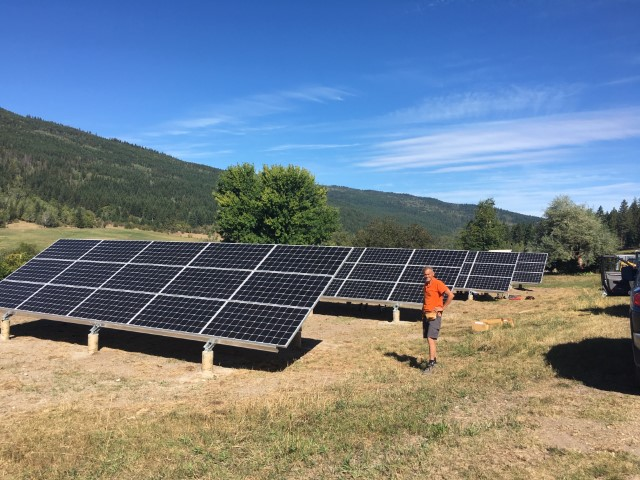 Installation A+ Solar Solutions in Vernon