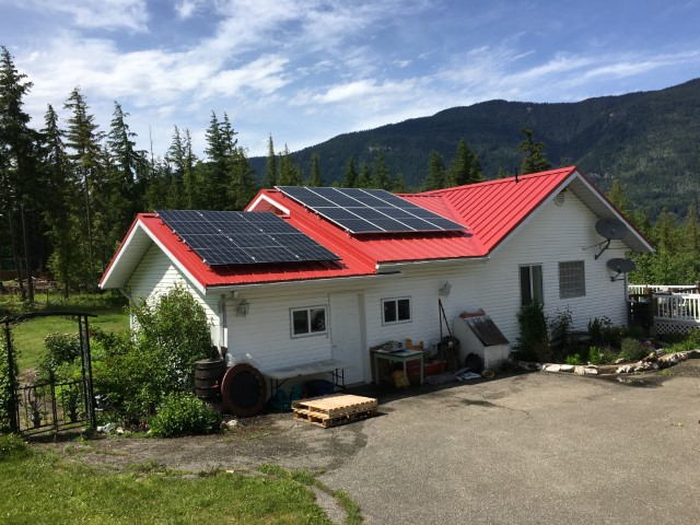 Installation A+ Solar Solution in Eagle Bay